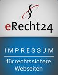 Erecht24 Siegel Impressum Blau