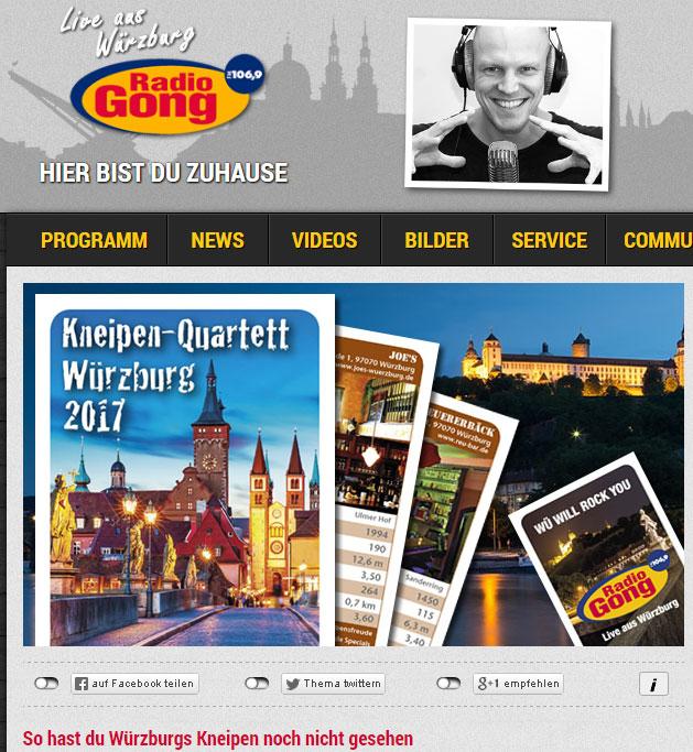 Radio Gong Würzburg Kneipenquartett 2017