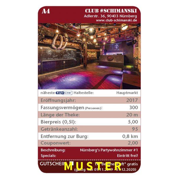 Kneipenquartett 2020 Nürnberg Musteseite Gutmann Club Schimanski