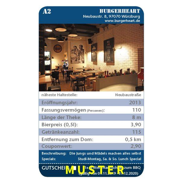 Kneipenquartett 2020 Würzburg Musterseite Burgerheart